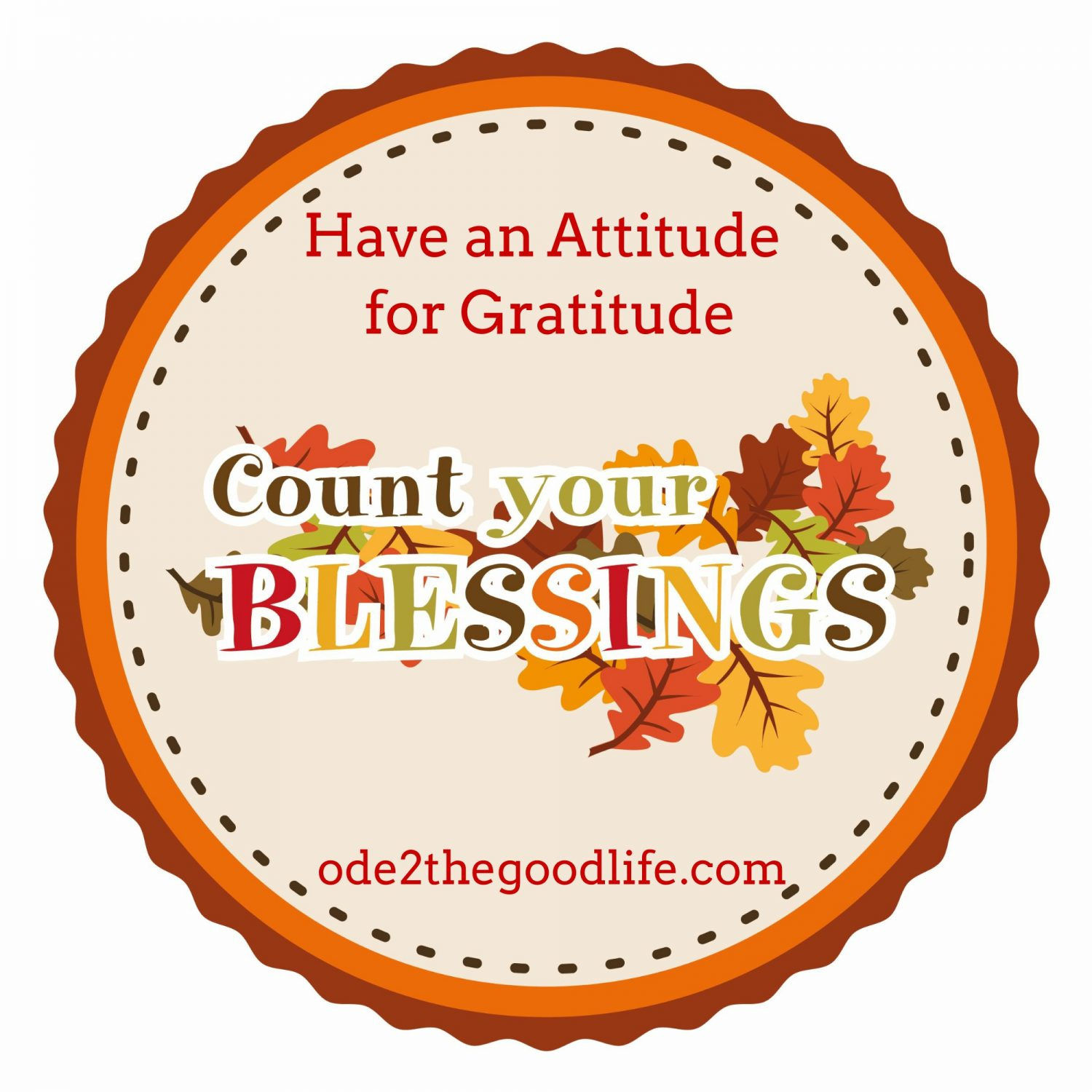 Have an Attitude for Gratitude